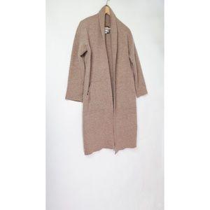 Anthropologie Mo Vint brown wool cardigan jacket S